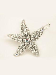 Beach Rhinestone Starfish Hair Clip ~ Sea Star