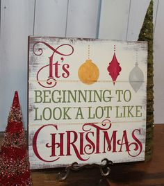 CHRISTMAS Sign/Subway Style/It's Beginning by TheGingerbreadShoppe