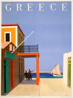 size: Giclee Print: Greece - Island of Hydra by Yiannis Moralis : This exceptional art print was made using a sophisticated giclée printing process, which deliver pure, rich color and remarkable detail. Fine Art Prints, Canvas Prints, Framed Prints, Greece Islands, Vintage Travel Posters, Poster Vintage, Greece Travel, Poster Size Prints, 500 Piece Jigsaw Puzzles