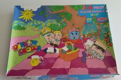 "1987 Jaymar Pillow People Large Floor Jigsaw Puzzle 35 Pieces 22"" x 17"" #Jaymar"