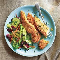 Lemon-Garlic Chicken Tenders | MyRecipes.com