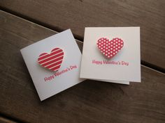 Red Heart Mini Valentine's Cards by Lemon Drops & Lilacs on etsy.com