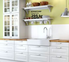 "Domsjö ""porslinsho"" from IKEA and Lidingö cabinets are looking good - something like this?"