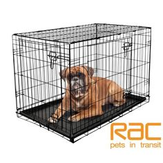 RAC Metal Fold Flat Dog Crate Large