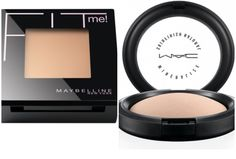 Dupe Alert! MAC Mineralized Skinfinish Natural vs. Maybeline Fit ME Powder. The Maybelline Fit Me powder has a satin, not too matte finish with a medium/light coverage that never looks cakey. These powders make excellent setting powders because they provide a little extra coverage without looking cakey and still looking natural. $7 vs $30