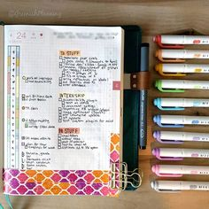 Something I've missed from my bullet journal since switching to a Hobonichi is being able to use a whole page each week as a categorized task dump. Thus far I've been getting by without it, but yesterday I realized that wouldn't work for this upcoming week or two (or three). So I went right ahead and plopped a task dump on my daily page, then added washi so I can find that page more easily! Problem solved!