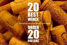 20 Best Wines Under 20 Dollars