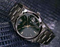 Mens Vintage Rolex Oyster Precision 6694 w Date Green Dial 611 | eBay