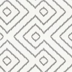Gray & White Optical Diamond Linen Fabric 18in