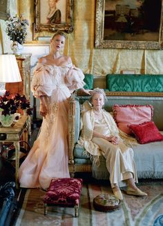 'Waltz Darling', Kate Moss and Lady Elizabeth Longman by Tim Walker, Love #8 F/W 2012.  Christian Dior Fall Winter 2007 Haute Couture  (Submitted by hautekills)