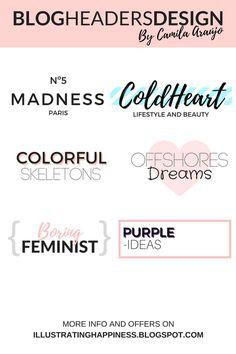 Blog header design