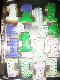 1st Birthday Cookies..I have the #1already #Repin By:Pinterest++ for iPad#