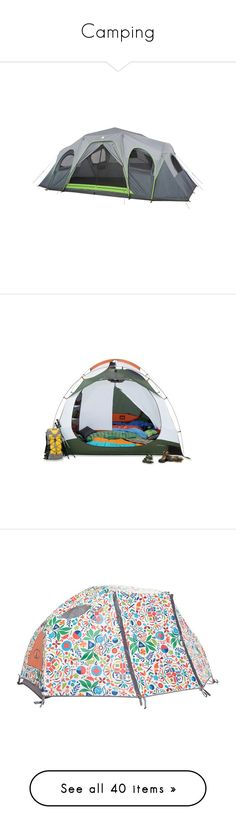 """""""Camping"""" by go-little-bad-girl ❤ liked on Polyvore featuring camp, home, tent, camping, bags, tents, green, outdoor accessories, travel accessories and kelty bags"""