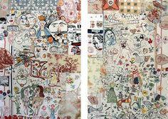 Anna Torma - Blood Ties  Metamorphosis, diptych 2008 160x100cm each