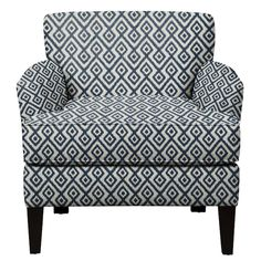 Living Room Furniture - Marcus Chair w/ Tate Indigo Fabric