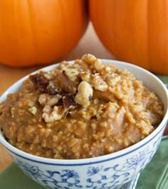 Pumpkin Steel Cut Oatmeal - oh yum.