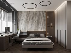 DEDE/Brutal minimalism on Behance Home Room Design, Loft Design, Showroom Interior Design, Interior Architecture, Master Bedroom Interior, Bedroom Decor, Contemporary Bedroom, Modern Bedroom, Behance