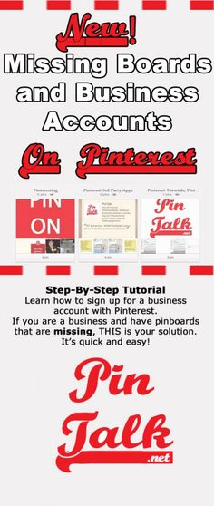 Tutorial Pinterest for Business Update. Get your missing boards back! #Pinterest Tutorial