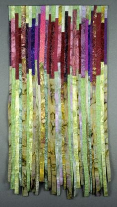 """image of quilt titled """"Plum Blossoms"""" by Barbara O'Steen © 2006"""