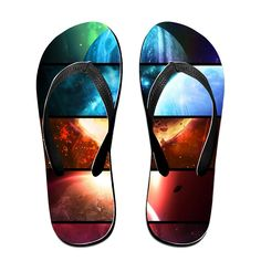 BEDOO Starry Sky Planet Vast Universe Beach Flip-Flops Slipper Sandals *** More info could be found at the image url.