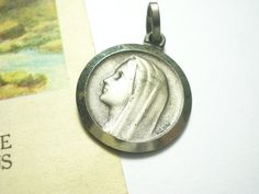 French Antique Our Lady of Lourdes Invocation by LuxMeaChristus, $11.42