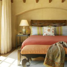 Mediterranean bedroom vibe...