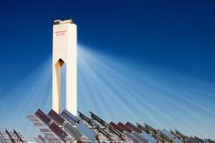 The PS20 solar thermal tower. Its is part of the Solucar solar complex owned by Abengoa energy, in La Mayor, Andalucía, Spain