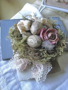 Easter...handmade french inspired bird nest.