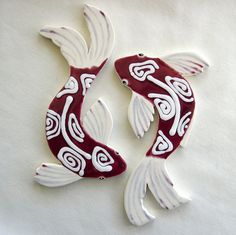 Koi  Fish Tile Ceramic mosaic Tiles for Mosaics by ArtTileMosaics, $35.00