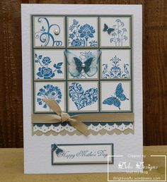 9 square mother's day - blue