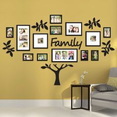 I'm pretty sure Bed Bath & Beyond carries this: Hallway Family Tree Collage Picture Photo Wall Art Large Wedding Frame Decor Family Tree Frame, Family Wall, Family Trees, Family Room, Display Family Photos, Photo Deco, Diy Décoration, Photo Wall Art, Photo Walls