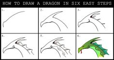 Daryl Hobson Artwork: How To Draw A Dragon Step By Step Really nice!