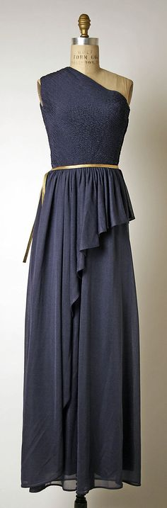 Classic silk evening dress (1973) from the House of Givenchy