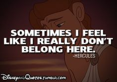 Do you feel like you don't belong here, in this world and society? In this post I will share why it might actually be a good thing. Disney Dream, Disney Love, Disney Magic, Disney Stuff, Disney Disney, Disney Princess, Sad Quotes, Quotes To Live By, Life Quotes
