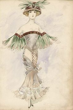 Gaston Noury Moulin Rouge and Dance Hall Costume Designs, c. 1909-1910