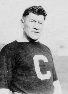 Jim Thorpe of the Canton Bulldogs, one of the first professional football teams