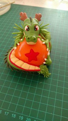 Esfera del dragón Cute Polymer Clay, Polymer Clay Dolls, Polymer Clay Projects, Diy Clay, Clay Crafts, Diy And Crafts, Fondant Cake Toppers, Fondant Figures, Dragonball Z Cake