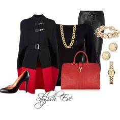 Stylish Eve 2013 Winter Outfits: Looking Fabulous in Red is a Necessity