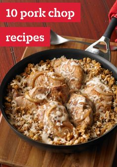10 Pork Chop Recipes -- From healthy living suppers to pork chops smothered in sauce, our pork chop recipes rival chicken dishes in the versatility department!