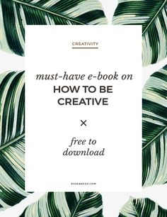 Must Have E-Book on How to Be Creative http://83oranges.com/must-e-book-creative/ #design #art #graphicdesign