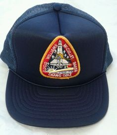 Nasa Space Shuttle Patch Embroidred On Mesh Hat Snapback Adjustable #Unbranded #Trucker