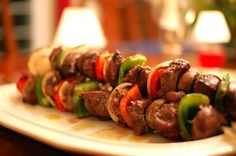 Do you like kebab? All your family will like it – cook it in the fresh air or make it in the special oven – the result will be very tender and delicious meet. Slow Carb Recipes, Slow Carb Diet, Kebab Recipes, Lamb Recipes, Cooking Recipes, Healthy Recipes, Weed Recipes, Healthy Foods, Barbecued Lamb