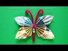 Geldscheine falten Schmetterling - Geldgeschenke basteln