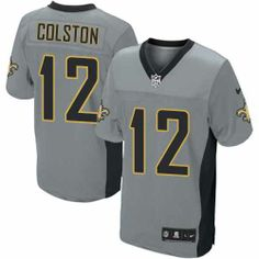 Mens Nike New Orleans Saints http://#12 Marques Colston Elite Shadow Grey Jersey $129.99