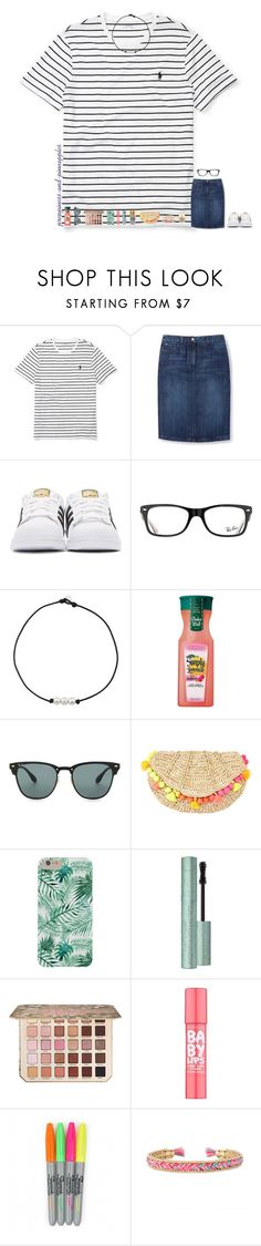 """✧ day 5"" by preppiness-and-pineapples ❤ liked on Polyvore featuring Ralph Lauren, Boden, adidas Originals, Ray-Ban, Lilly Pulitzer, Too Faced Cosmetics, Maybelline, Stella & Dot, Kendra Scott and julesroadtrip"