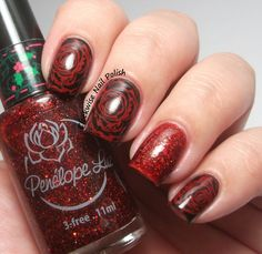 Rose // The Clockwise Nail Polish: Born Pretty BP-L001 Stamping Plate Review & Penélope Luz Mary's Love