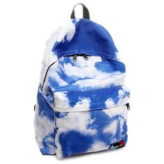 Cheap Fresh Blue Sky And Clouds College Backpacks For Big Sale!Fresh Blue Sky And Clouds College Backpacks Cute Backpacks, Girl Backpacks, School Backpacks, Lace Backpack, Canvas Backpack, Galaxy Backpack, Fashion Bags, Fashion Backpack, Nylons