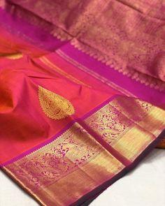Gold Silk Saree, Bridal Silk Saree, Saree Wedding, Silk Saree Kanchipuram, Silk Sarees, Pattu Saree Blouse Designs, Beautiful Saree, Daughter, Blouses