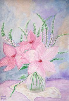 Bild Blumen Aquarell Original Unikat 30*40 cm neu signiert datiert