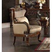 Silla tonos marrones delicados Durable tapicería de tela de chenille Almohadas decorativas con flecos patas cabriolé
